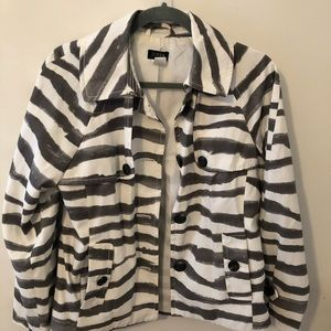 J. Crew Striped Spring Jacket